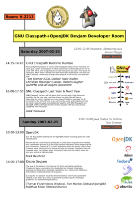 GNU Classpath+OpenJDK DevJam Developer Room