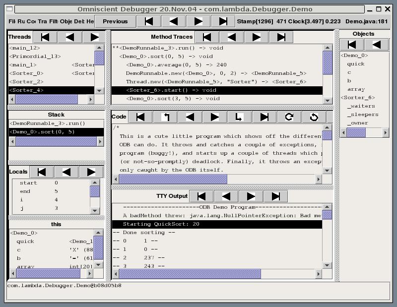 The Omniscient Debugging on GNU Classpath + JamVM